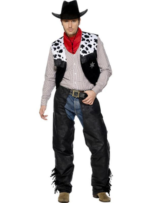 Cowboy Costume, Black-Costumes - Mens-Jokers Costume Hire and Sales Mega Store