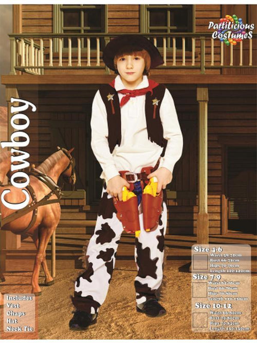 Cowboy Costume.-Costumes - Boys-Jokers Costume Hire and Sales Mega Store