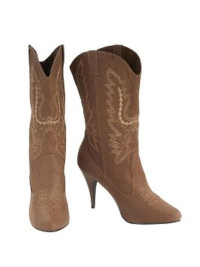 Cowgirl Boots - Size L-Costume Accessories-Jokers Costume Hire and Sales Mega Store