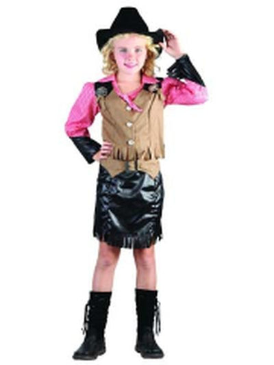 Cowgirl & Hat - Child - Small***-Costumes - Girls-Jokers Costume Hire and Sales Mega Store