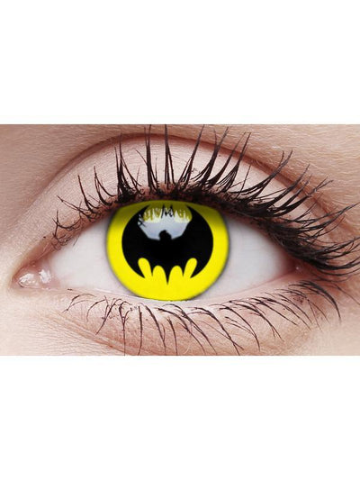 Crazy Lens Contacts - Bat Crusader-Contact Lens - Crazy Lens 3 months-Jokers Costume Hire and Sales Mega Store