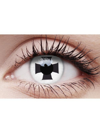 Crazy Lens Contacts - Black Cross-Contact Lens - Crazy Lens 3 months-Jokers Costume Hire and Sales Mega Store