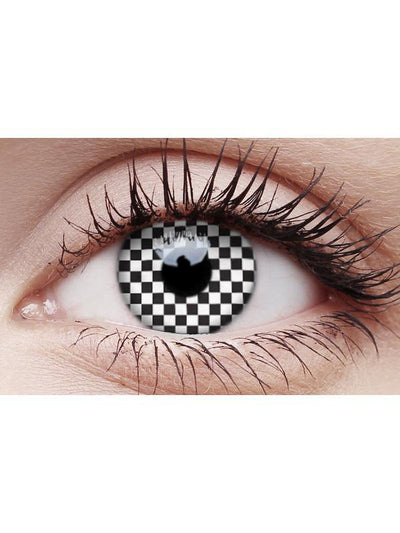 Crazy Lens Contacts - Chequered-Contact Lens - Crazy Lens 3 months-Jokers Costume Hire and Sales Mega Store
