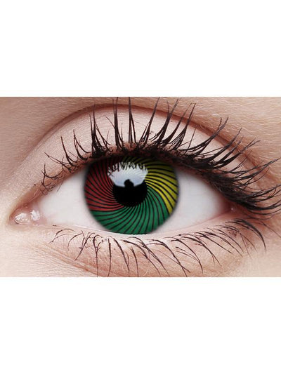 Crazy Lens Contacts - Rasta-Contact Lens - Crazy Lens 3 months-Jokers Costume Hire and Sales Mega Store