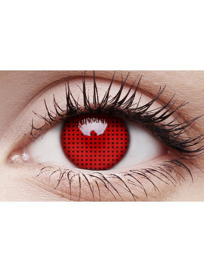 Crazy Lens Contacts - Red Screen-Contact Lens - Crazy Lens 3 months-Jokers Costume Hire and Sales Mega Store