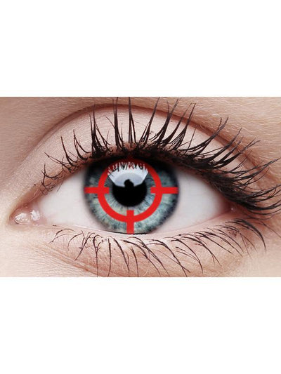 Crazy Lens Contacts - Red Target-Contact Lens - Crazy Lens 3 months-Jokers Costume Hire and Sales Mega Store
