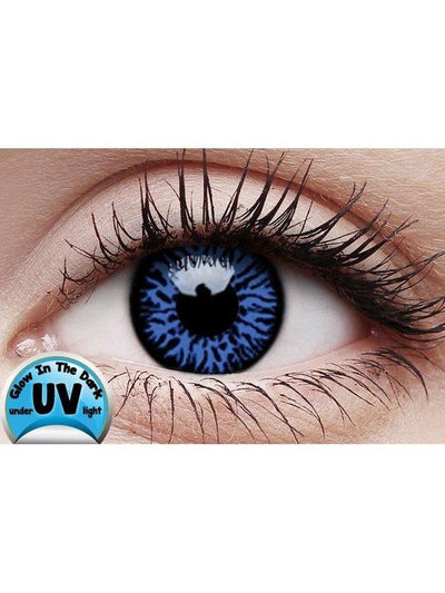 Crazy Lens Contacts - UV Glow Drax-Contact Lens - UV glow 6 months-Jokers Costume Hire and Sales Mega Store