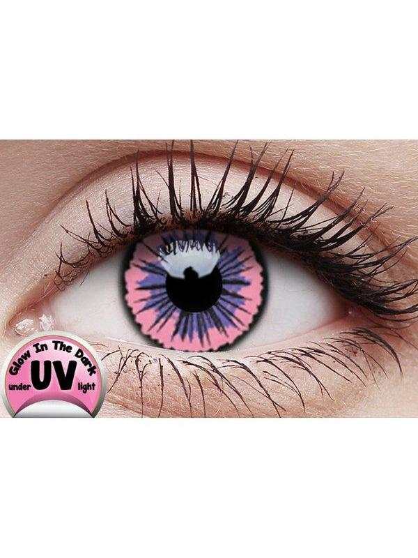 Crazy Lens Contacts - UV Glow Jubille Pk-Jokers Costume Mega Store