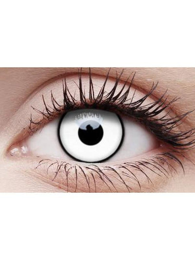Crazy Lens Contacts - White Zombie-Contact Lens - Crazy Lens 3 months-Jokers Costume Hire and Sales Mega Store