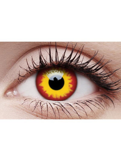 Crazy Lens Contacts - Wild Fire-Contact Lens - Crazy Lens 3 months-Jokers Costume Hire and Sales Mega Store