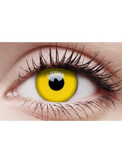 Crazy Lens Contacts - Yellow-Contact Lens - Crazy Lens 3 months-Jokers Costume Hire and Sales Mega Store