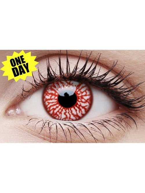 Crazy One-Day Contact Lens - Blood Shot-Contact Lens - Crazy One Day-Jokers Costume Hire and Sales Mega Store