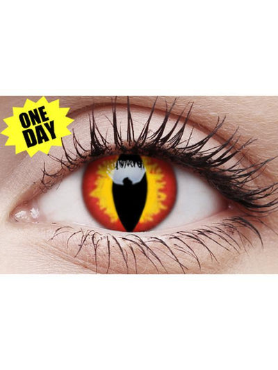 Crazy One-Day Contact Lens - Dragon Eyes-Contact Lens - Crazy One Day-Jokers Costume Hire and Sales Mega Store