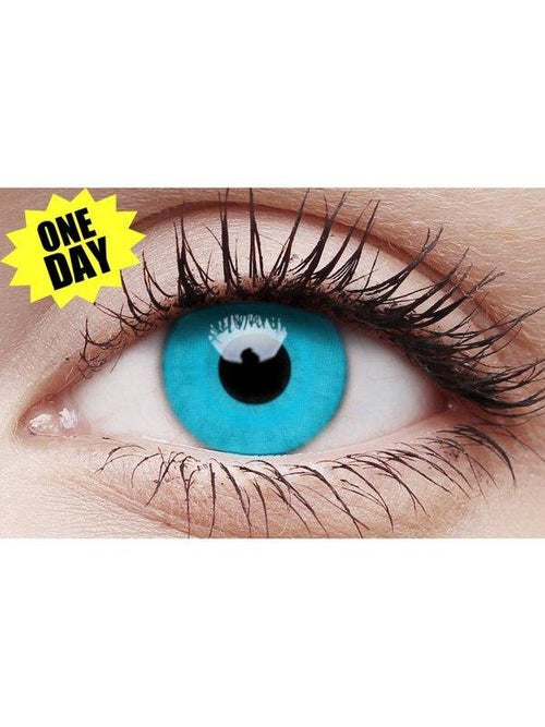 Crazy One-Day Contact Lens - Sky Blue-Contact Lens - Crazy One Day-Jokers Costume Hire and Sales Mega Store