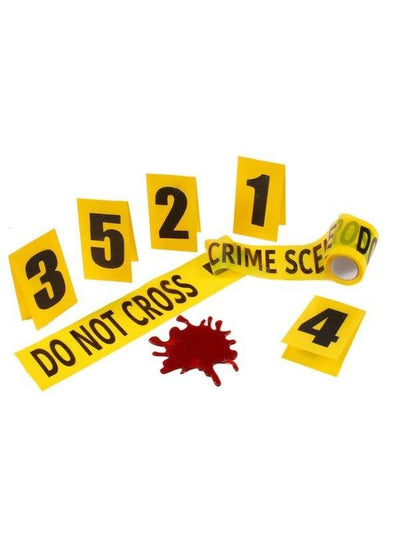 Crime Scene Kit - 8pc-Halloween Props and Decorations-Jokers Costume Hire and Sales Mega Store