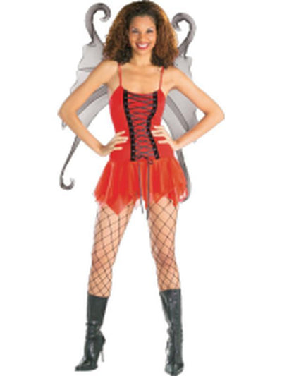 Crimson Fairy Secret Wishes Costume - Size M-Costumes - Women-Jokers Costume Hire and Sales Mega Store
