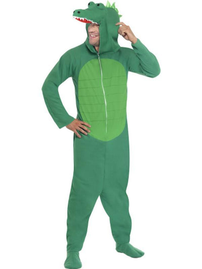 Crocodile Costume, All in One-Costumes - Mens-Jokers Costume Hire and Sales Mega Store