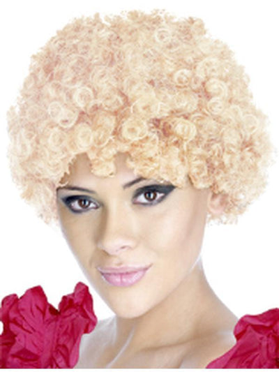 Curly Clown Wig - Blonde Kath Style-Wigs-Jokers Costume Hire and Sales Mega Store