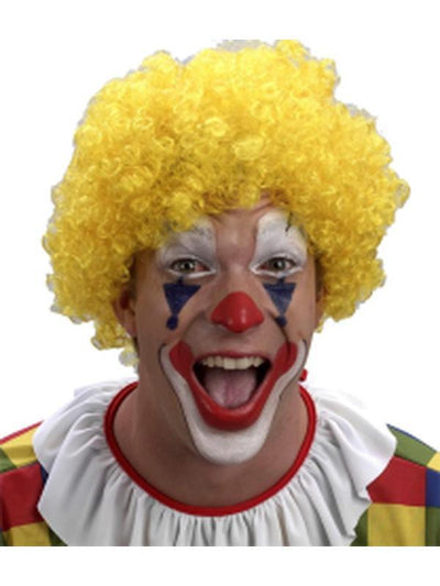 Curly Clown Wig - Yellow-Wigs-Jokers Costume Hire and Sales Mega Store