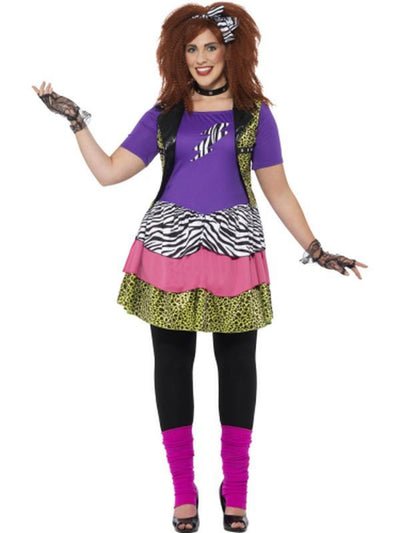 Curves 80s Rock Chick Costume-Costumes - Women-Jokers Costume Hire and Sales Mega Store