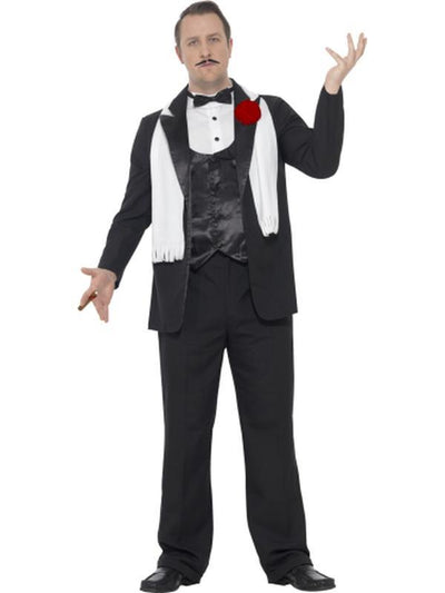 Curves Gangster Costume-Costumes - Mens-Jokers Costume Hire and Sales Mega Store