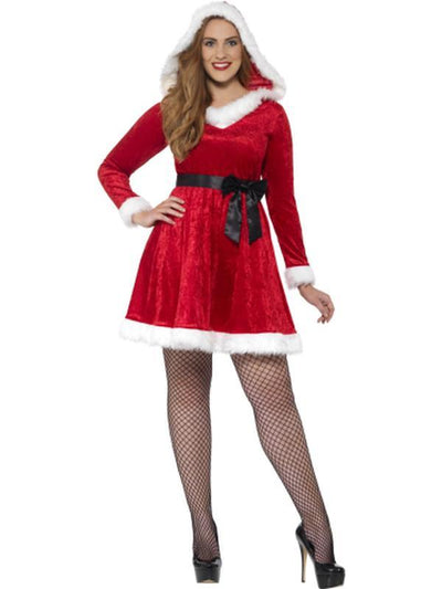 Curves Miss Santa Costume-Costumes - Women-Jokers Costume Hire and Sales Mega Store