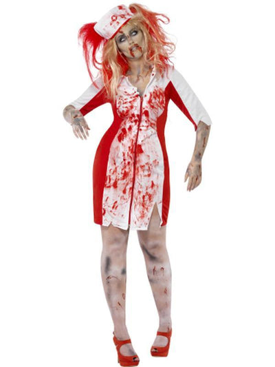 Curves Zombie Nurse Costume-Costumes - Women-Jokers Costume Hire and Sales Mega Store