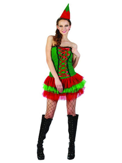 Cute Christmas Elf - Adult - Medium-Costumes - Women-Jokers Costume Hire and Sales Mega Store