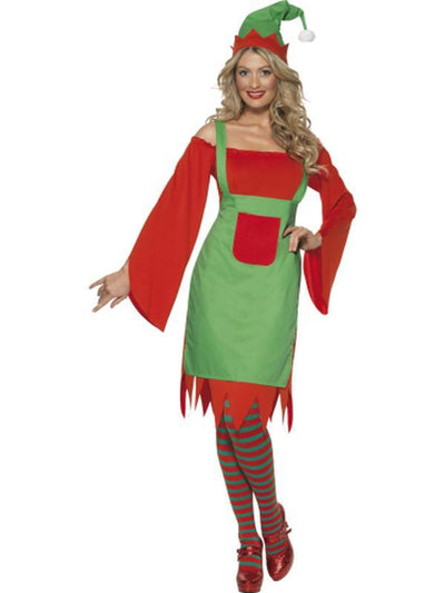 Cute Elf Costume, Red and Green-Jokers Costume Mega Store