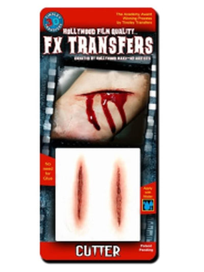 Cutter - 3D FX Tinsley Transfer - Small-Halloween Makeup & Special FX-Jokers Costume Hire and Sales Mega Store