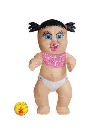 DADDY'S LIL GIRL INFLATABLE BABY COSTUME - STD-Costumes - Women-Jokers Costume Hire and Sales Mega Store