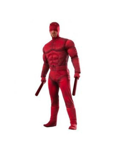 Daredevil Deluxe Adult - Size Std-Costumes - Mens-Jokers Costume Hire and Sales Mega Store