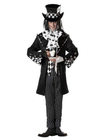 DARK MAD HATTER/ADULT-Costumes - Mens-Jokers Costume Hire and Sales Mega Store