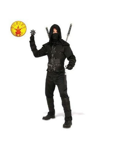 DARK NINJA COSTUME - SIZE STD-Costumes - Mens-Jokers Costume Hire and Sales Mega Store