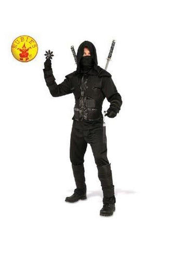 DARK NINJA COSTUME - SIZE XL-Costumes - Mens-Jokers Costume Hire and Sales Mega Store