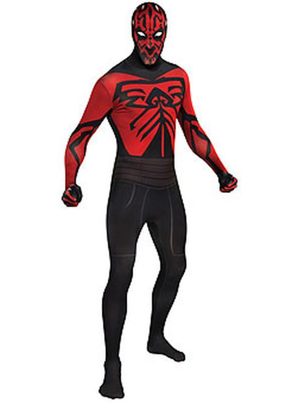 Darth Maul 2Nd Skin Suit - Size M-Costumes - Mens-Jokers Costume Hire and Sales Mega Store