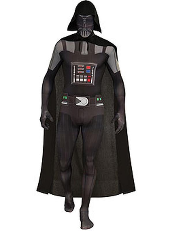 Darth Vader 2Nd Skin Suit - Size L-Costumes - Mens-Jokers Costume Hire and Sales Mega Store