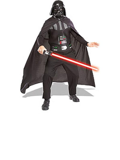 Darth Vader Adult Set With Lightsabre - Size Std-Costumes - Mens-Jokers Costume Hire and Sales Mega Store