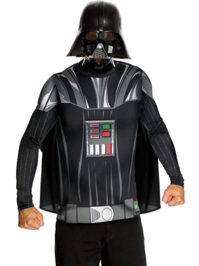 Darth Vader Costume Top And Mask - Size L-Costumes - Mens-Jokers Costume Hire and Sales Mega Store
