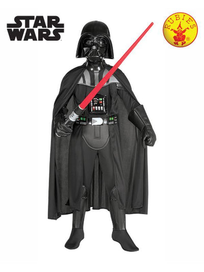 DARTH VADER DELUXE COSTUME, CHILD - SIZE SMALL-Costumes - Boys-Jokers Costume Hire and Sales Mega Store