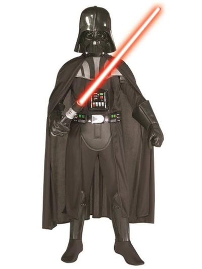 Darth Vader Deluxe With Lightsaber - Size M-Costumes - Boys-Jokers Costume Hire and Sales Mega Store