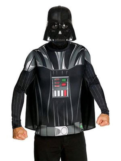 Darth Vader Dress Ups: Classic Long Sleeve Tops-Costumes - Mens-Jokers Costume Hire and Sales Mega Store