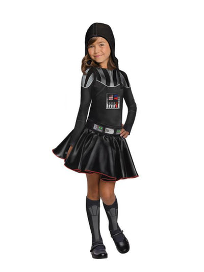 Darth Vader Girl Costume - Size L-Costumes - Girls-Jokers Costume Hire and Sales Mega Store