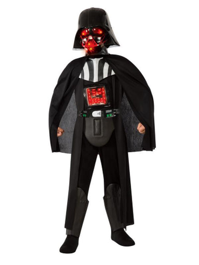 Darth Vader Star Wars Deluxe Light-Up Child - Size M-Costumes - Boys-Jokers Costume Hire and Sales Mega Store