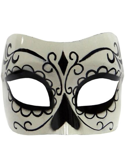 Day of Dead Mask-Masks - Halloween-Jokers Costume Hire and Sales Mega Store