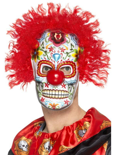 Day of the Dead Clown Mask-Masks - Masquerade-Jokers Costume Hire and Sales Mega Store