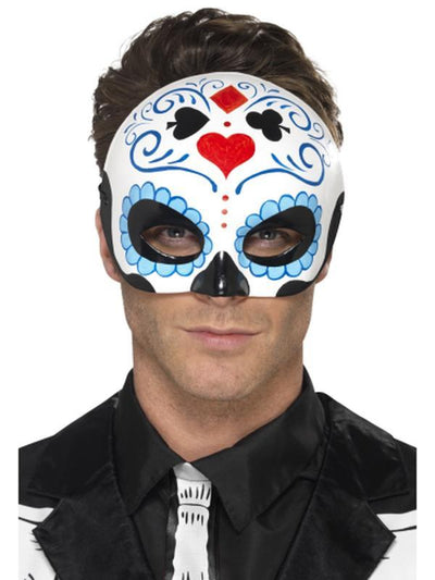 Day of the Dead Eyemask-Masks - Masquerade-Jokers Costume Hire and Sales Mega Store