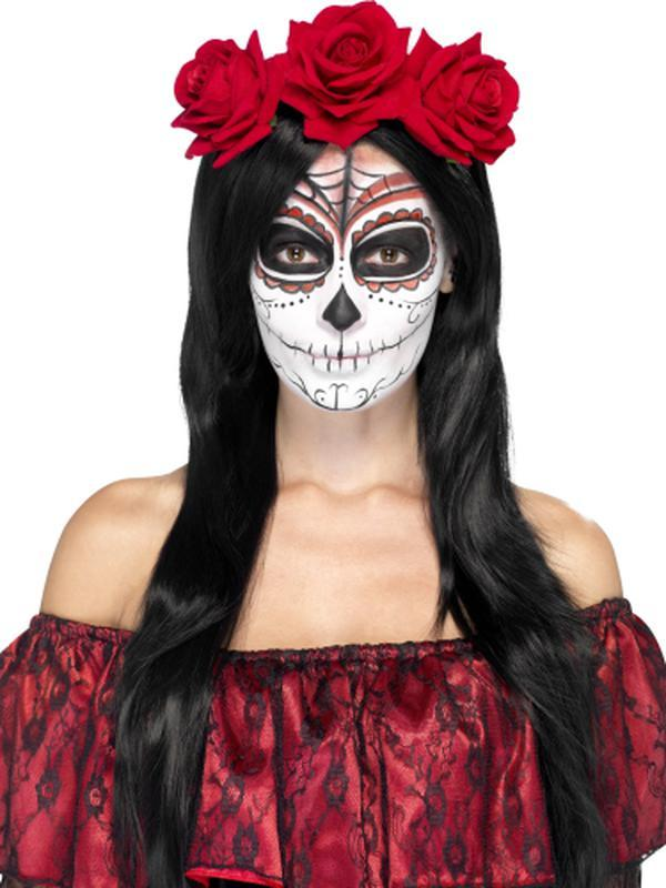 Day of the Dead Headband-Hats and Headwear-Jokers Costume Hire and Sales Mega Store