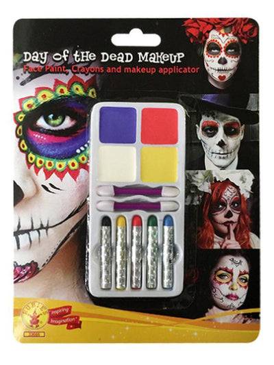 Day Of The Dead Make Up Kit-Halloween Makeup & Special FX-Jokers Costume Hire and Sales Mega Store