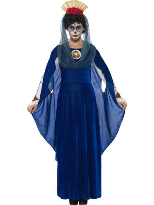 Day of the Dead Sacred Mary Costume-Costumes - Women-Jokers Costume Hire and Sales Mega Store